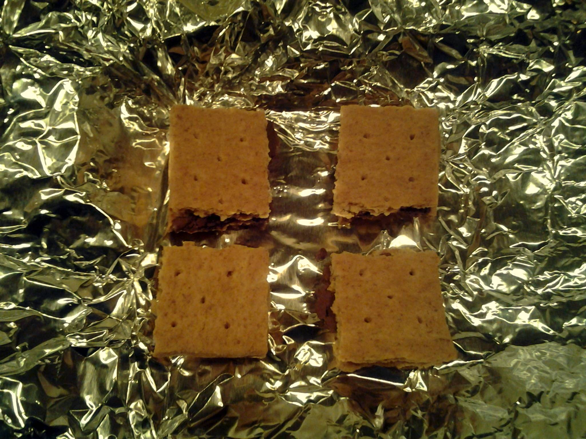 These are your four finished doses of cannabis Nutella firecrackers