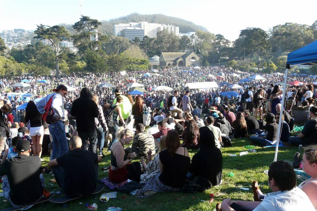 420 on Hippie Hill in San Francisco 4/20/2013 Copyright 2013 Old Hippie